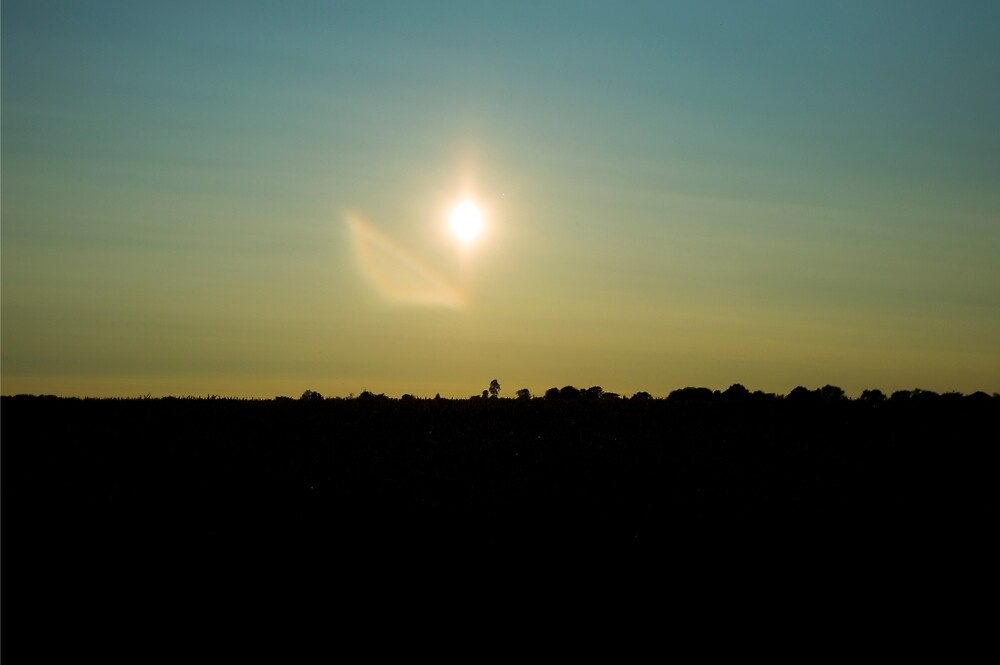 Silhouette Landscape with Lens Flare by UsainSlug