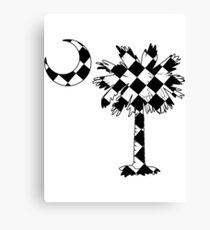 Checkered Flag Palmetto Moon Canvas Print