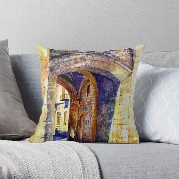 City gate Throw Pillow