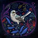 Fehérlólánya - Glowing Birds / Mockingbird by ManzardCafe