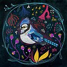Fehérlólánya - Glowing Birds / Blue jay by ManzardCafe