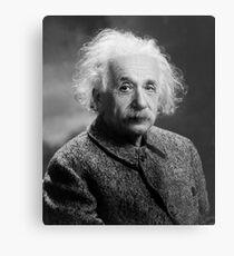 Lienzo metálico Albert Einstein