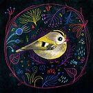 Fehérlólánya - Glowing Birds / Goldcrest by ManzardCafe