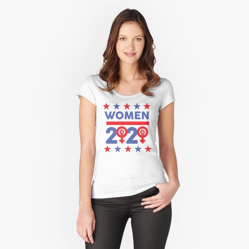 Frauen 2020 Tailliertes Rundhals-Shirt