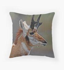 antelope buck #194 Throw Pillow