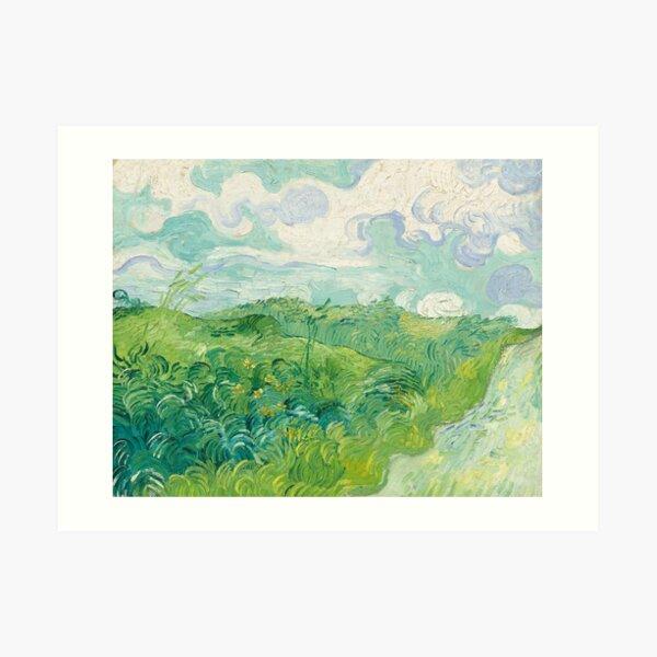 Green Wheat Fields, Auvers Art Print