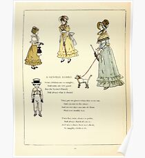 Marigold Garden Pictures and Rhymes Kate Grenaway 1900 0042 A Genteel Family Poster