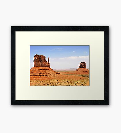 The Two Mittens of Monument Valley Framed Print
