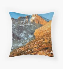 First Light at Longs Peak Throw Pillow