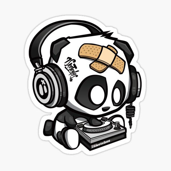 7Sketches - DJ Panda Sticker