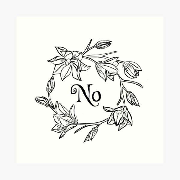 No Flowers Art Print