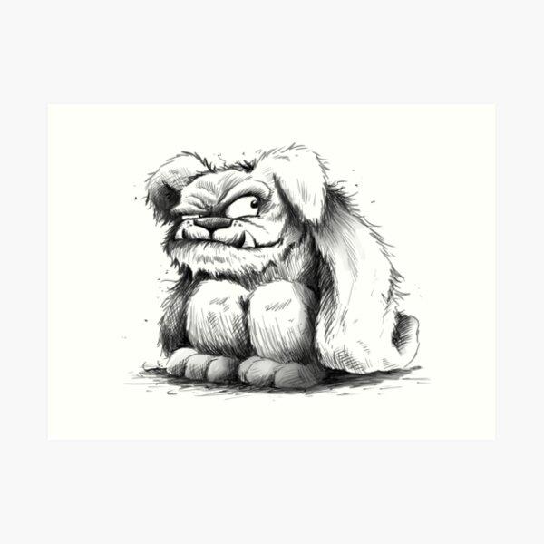 The Grunkle Chunk - Furry Monster Art Print