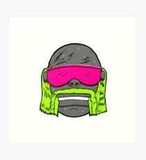 80s Neon Wrestler Cartoon Head Hulk Macho Art Print
