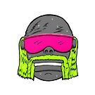 80s Neon Wrestler Cartoon Head Hulk Macho by JustNukeIt