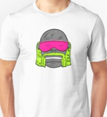 80s Neon Wrestler Cartoon Head Hulk Macho Slim Fit T-Shirt