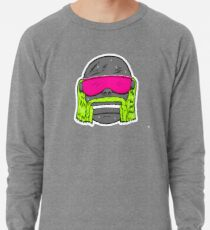 80s Neon Wrestler Cartoon Head Hulk Macho Lightweight Sweatshirt