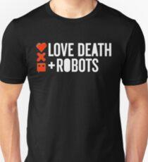 Liebe, Tod & Roboter (weiß) Slim Fit T-Shirt