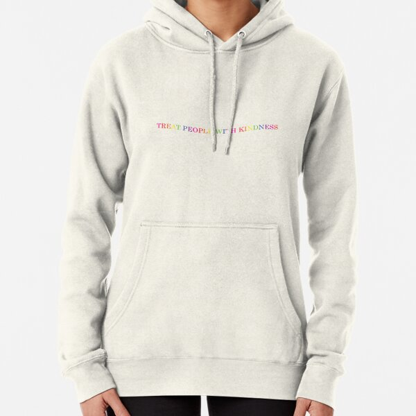 'Treat People With Kindness' rainbow  Pullover Hoodie
