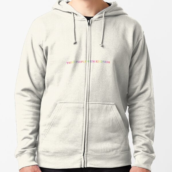 'Treat People With Kindness' rainbow  Zipped Hoodie
