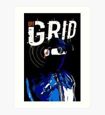 Hacker Sci-Fi Cyberpunk Illustration Off_Grid  Art Print