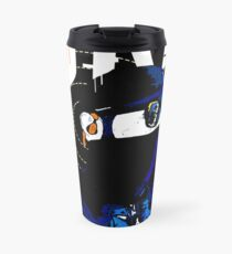 Hacker Sci-Fi Cyberpunk Illustration Off_Grid  Travel Mug