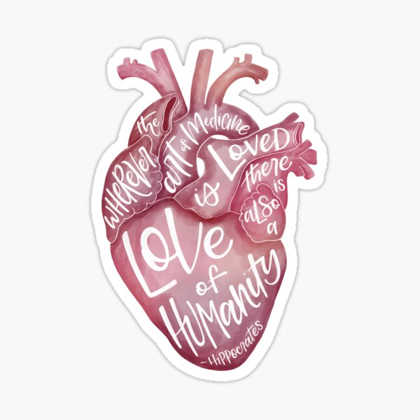 Heart of Medicine  Sticker