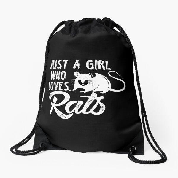 Sólo una niña que ama a las ratas, regalo de rata, regalo de amante de la rata, rata divertida, ratón divertido Mochila saco