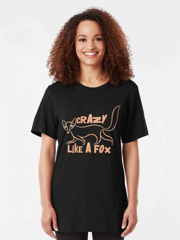 Alternate view of Crazy Like a Fox Animal T-shirt Slim Fit T-Shirt