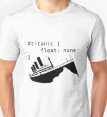 Titanic in CSS computer code Slim Fit T-Shirt