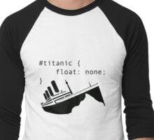 Titanic in CSS computer code Men's Baseball ¾ T-Shirt