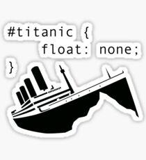Titanic in CSS computer code Sticker