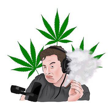 Elon Musk Smoking Weed Meme by Barnyardy