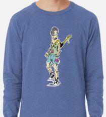 Punk Rock Girl Guitar Comic Book Style Character with a Mohawk Lightweight Sweatshirt