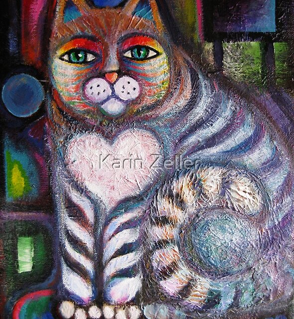New Rainbow cat after a make over by Karin Zeller