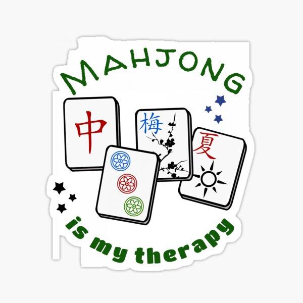 Mahjong Mah jongg game is my therapy set, gifts, tiles, table shirts, cards, bag Sticker