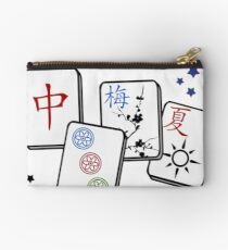 Mahjong Mah jongg game is my therapy set, gifts, tiles, table shirts, cards, bag Zipper Pouch