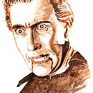 Dracula Session1-Watercolor by Beau Singer