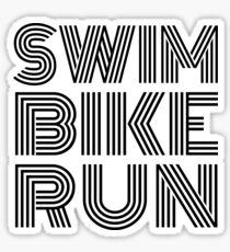 Swim Bike Run, Triathlon design Sticker