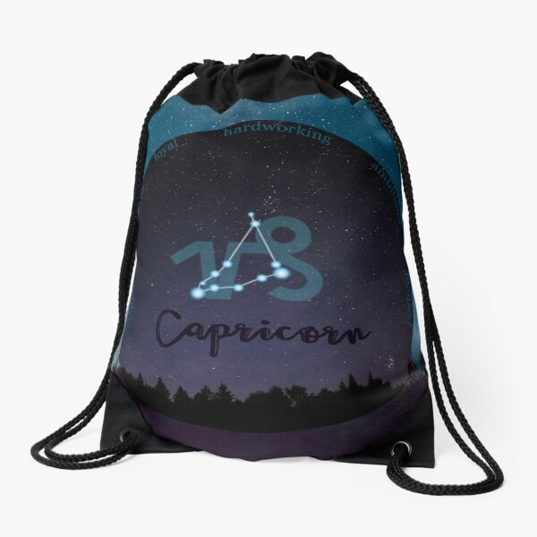 Capricorn Zodiac Sign Character Traits Drawstring Bag