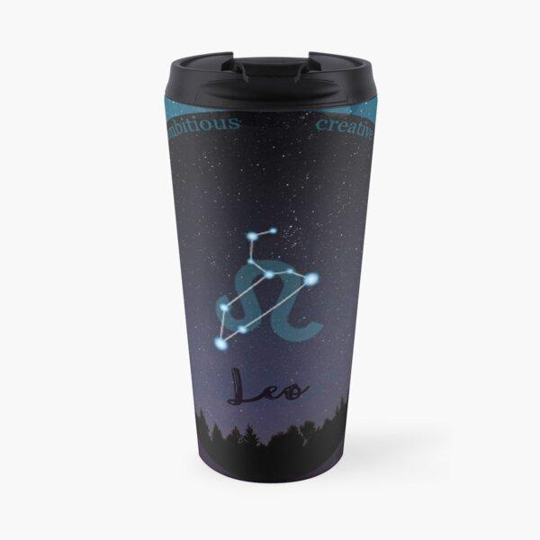 Leo Zodiac Sign Character Traits Travel Mug