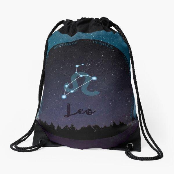 Leo Zodiac Sign Character Traits Drawstring Bag