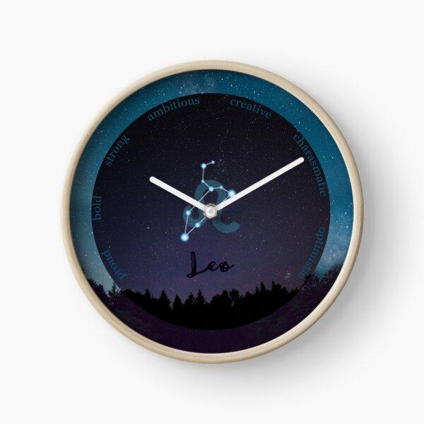 Leo Zodiac Sign Character Traits Clock