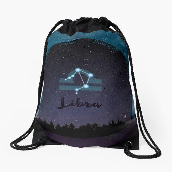 Libra Zodiac Sign Character Traits Drawstring Bag