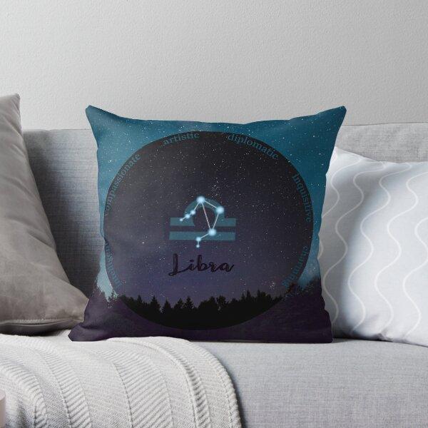 Libra Zodiac Sign Character Traits Throw Pillow