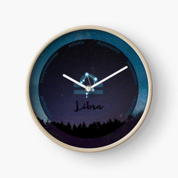 Libra Zodiac Sign Character Traits Clock