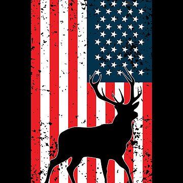 American Deer Hunter, Deer Hunting Gift, Deer Antler, Buck, 12 Pointer by Designs4Less