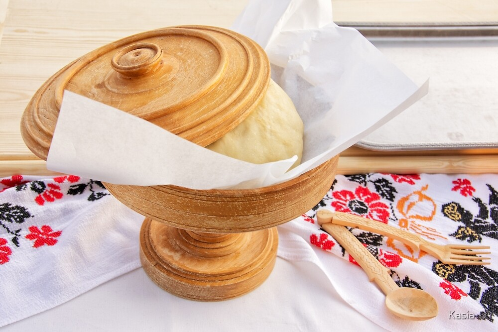 Pita Dough Rising by Kasia-D
