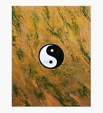 Yin Yang Stone Photographic Print