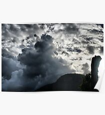 Dark Clouds over Crown Mountain Poster