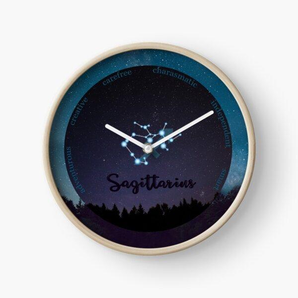 Sagittarius Zodiac Sign Character Traits Clock